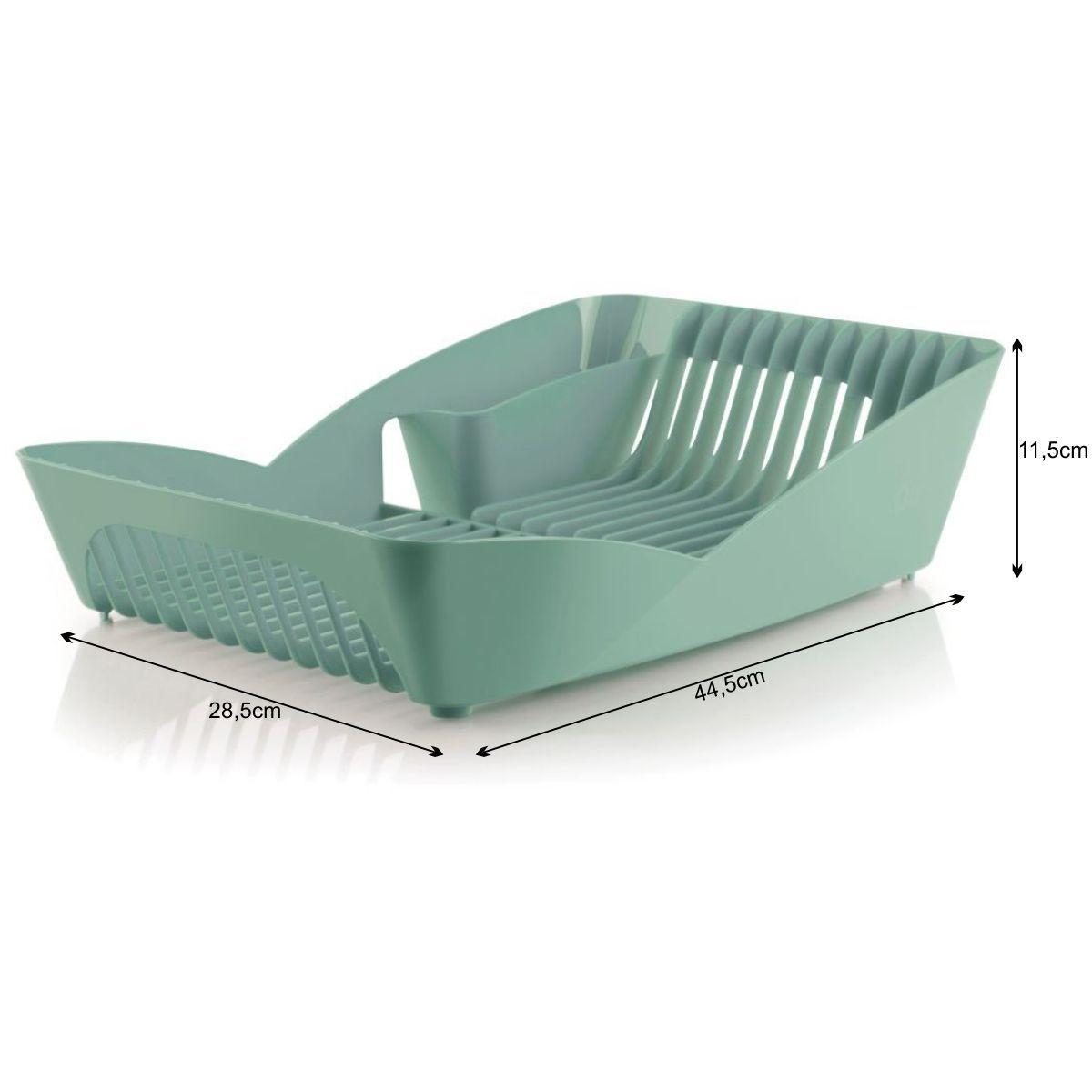 Escorredor de Louça Plástico para 10 Pratos Verde