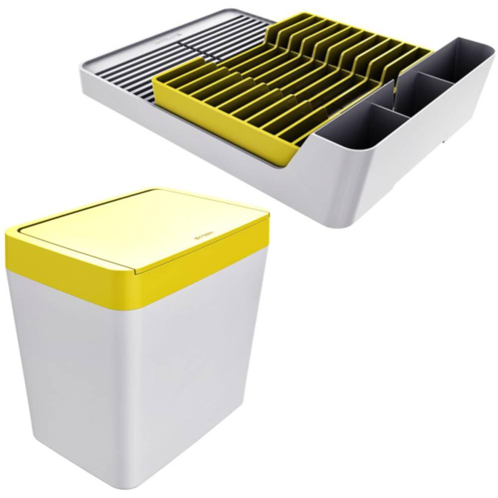 Escorredor de Louças 11 Pratos + Lixeira 5 Litros Cozinha