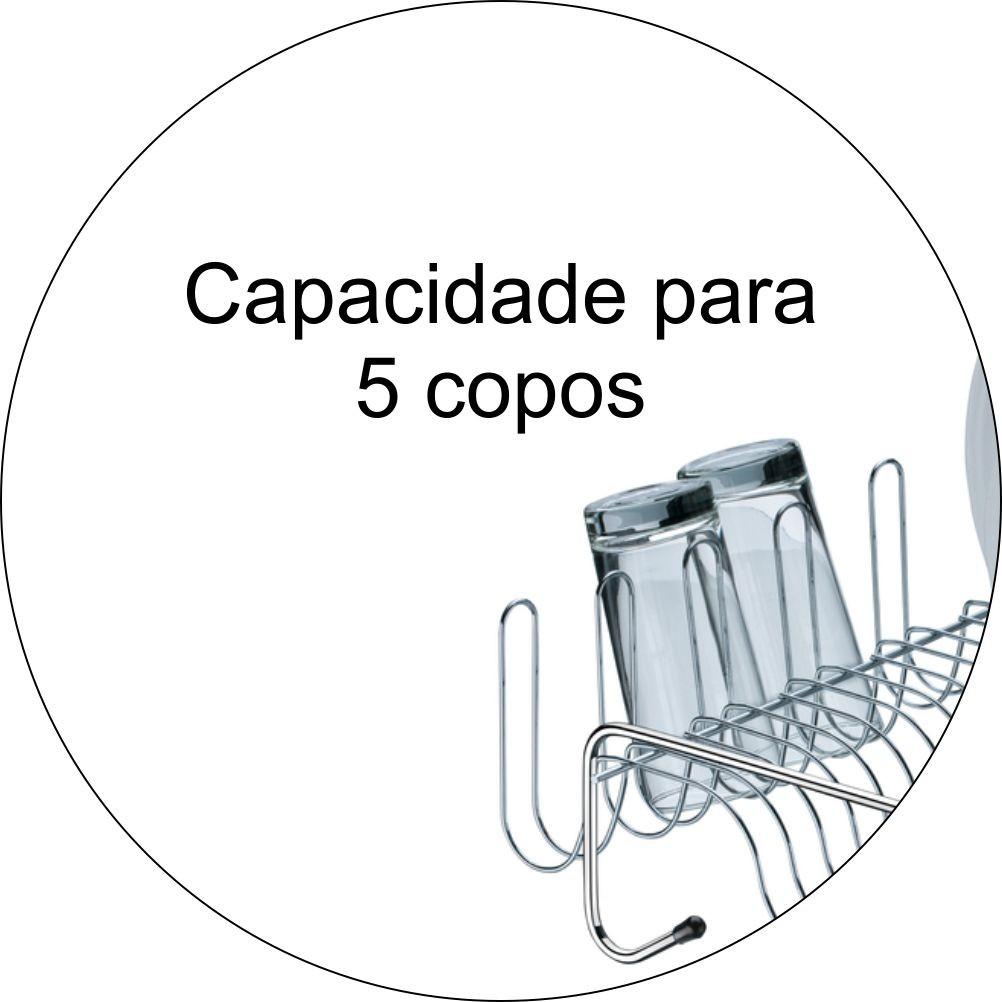 Escorredor De Louças 13 Pratos E 5 Copos - Cromado