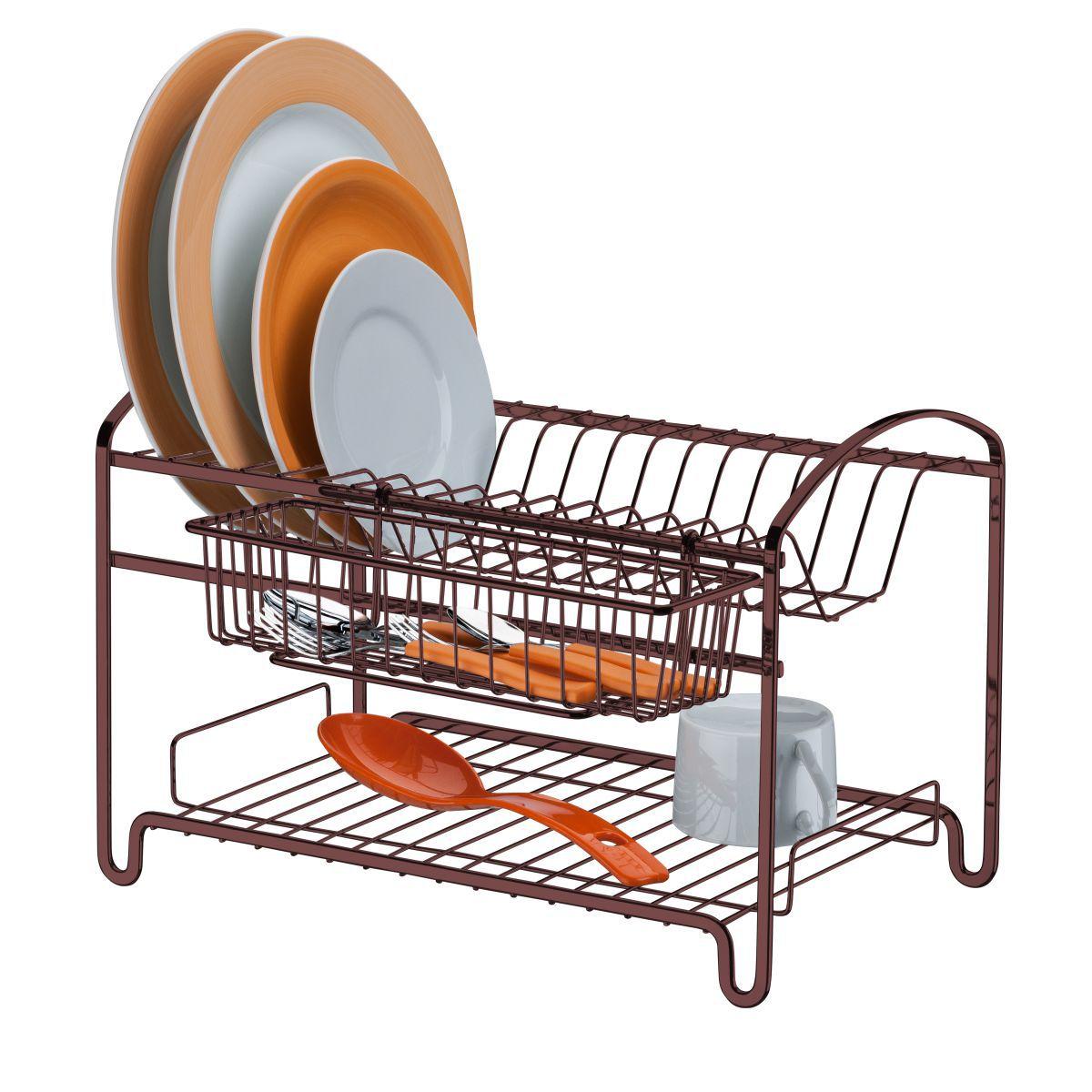 Escorredor de Louças 2 Andares Para 16 Pratos Cozinha Luxo