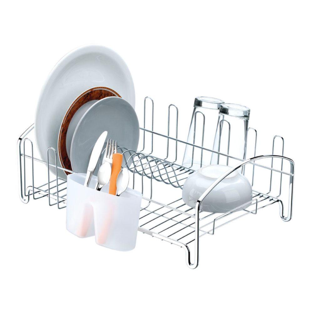 Escorredor De Louças Com Capacidade Para 10 Pratos E 8 Copos - Cromado