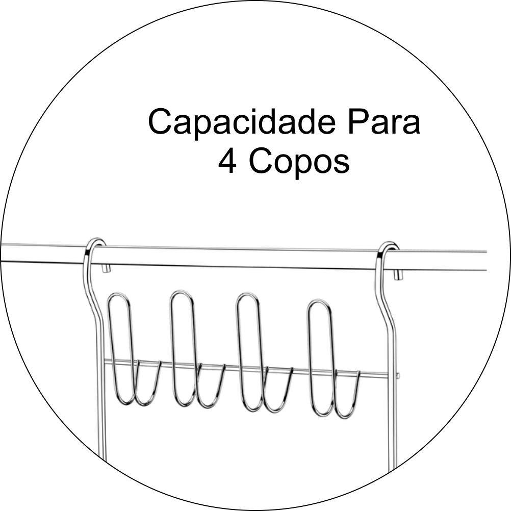 Escorredor De Louças Dobrável Para Barra De Cozinha - Aço Cromado