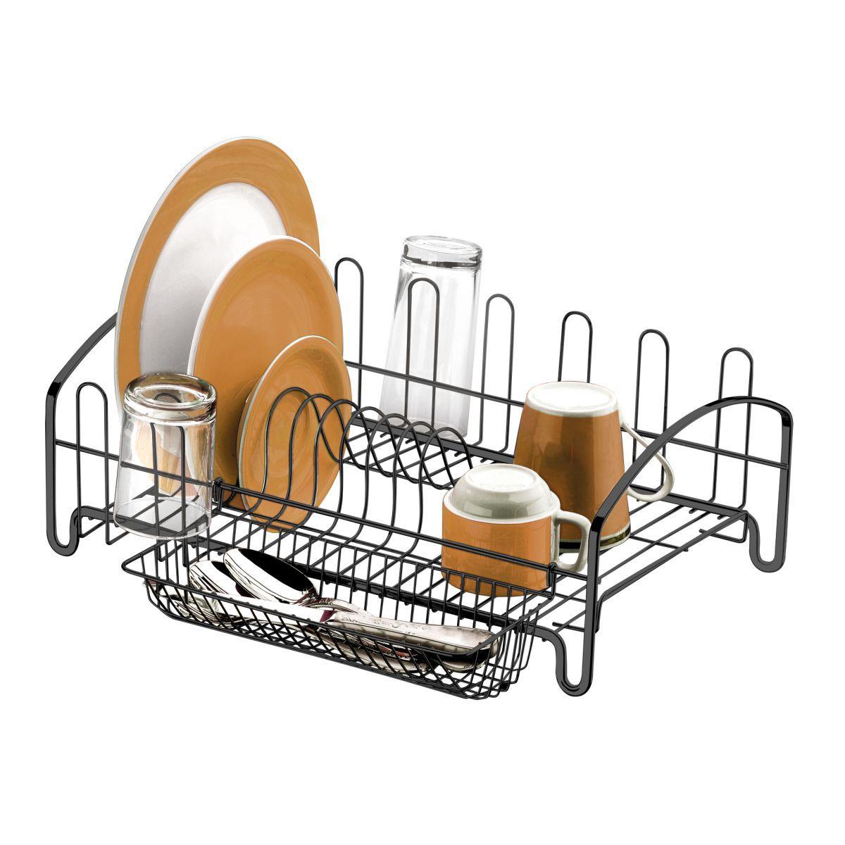Escorredor de Louças Para 10 Pratos e 6 Copos Cozinha Luxo