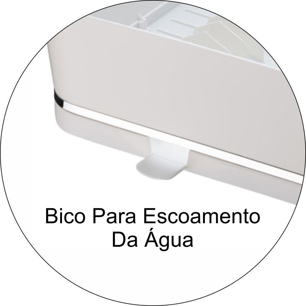 Escorredor De Louças Para 13 Pratos Em Plástico PS Eleganza - Branco
