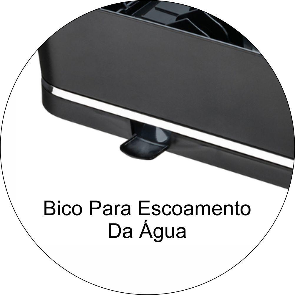 Escorredor De Louças Para 13 Pratos Em Plástico PS Eleganza - Preto