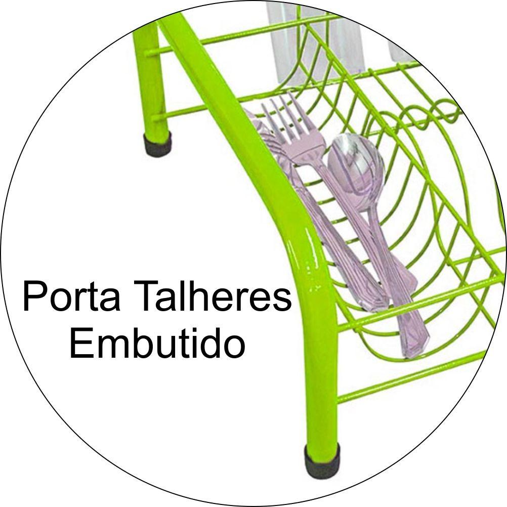 Escorredor de Louças Retrô Para 11 Pratos e 6 Copos - Verde