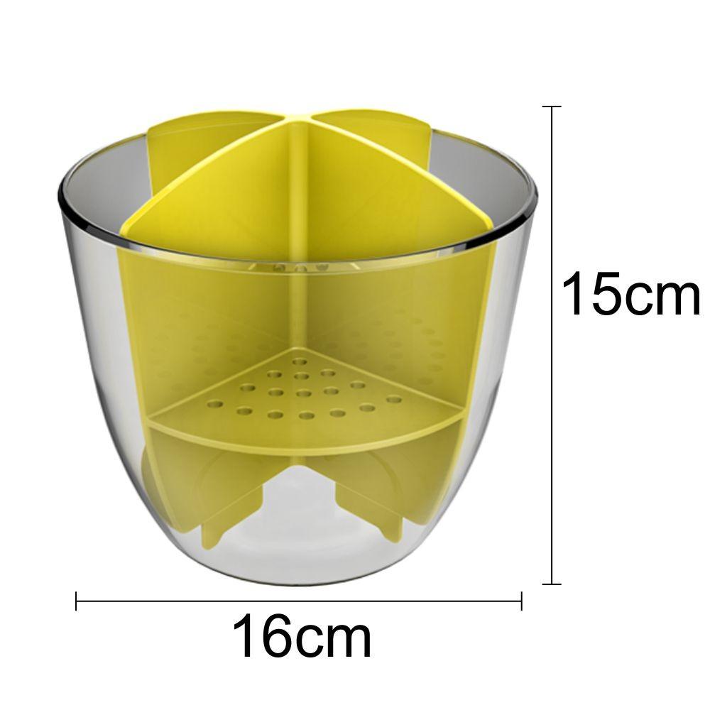 Escorredor de Talheres - Cristal/Amarelo