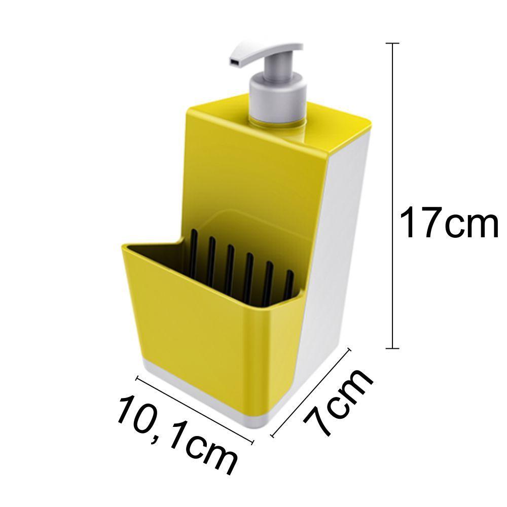 Escorredor de Talheres Dispenser Para Detergente Pia Cozinha