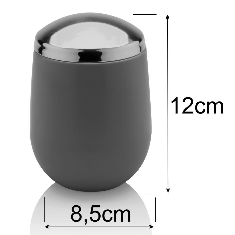 Jogo Completo Para Banheiro Toalete Com 6 Peças - Chumbo