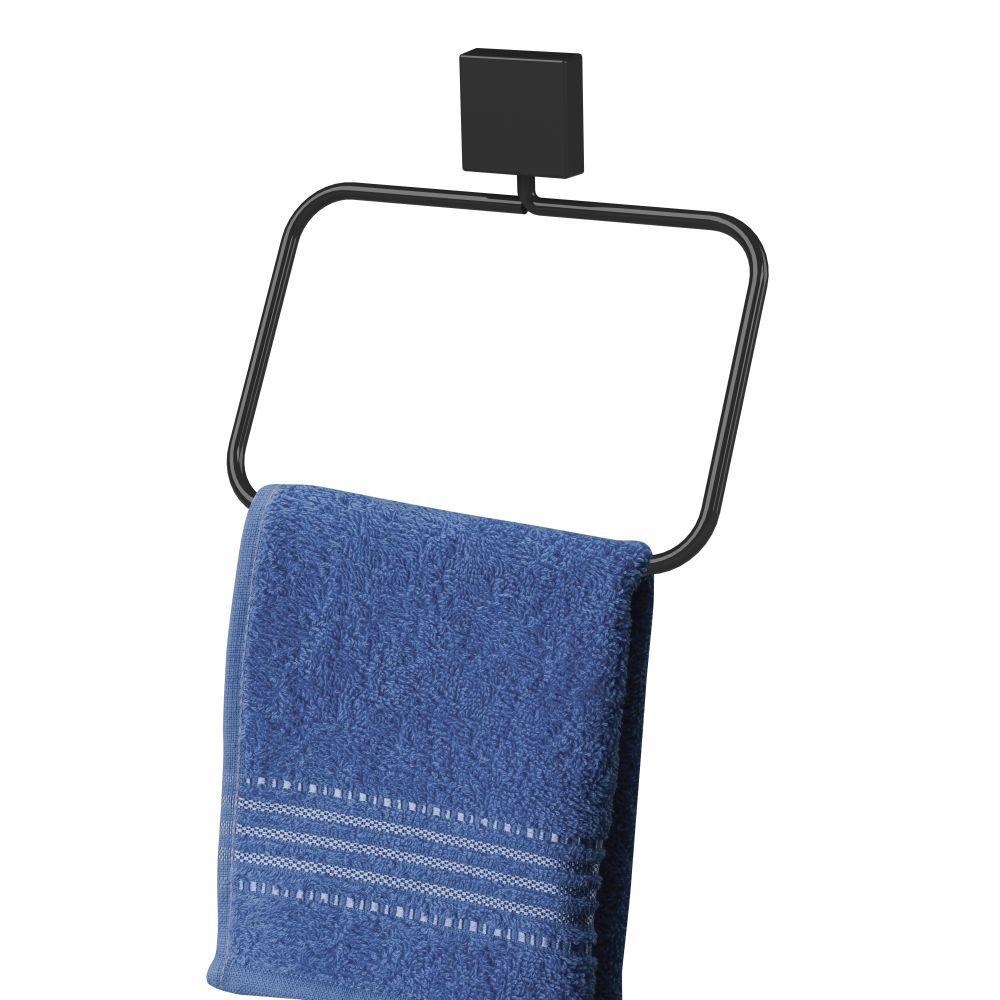 Kit 3 peças para banheiro fixação parafuso - preto