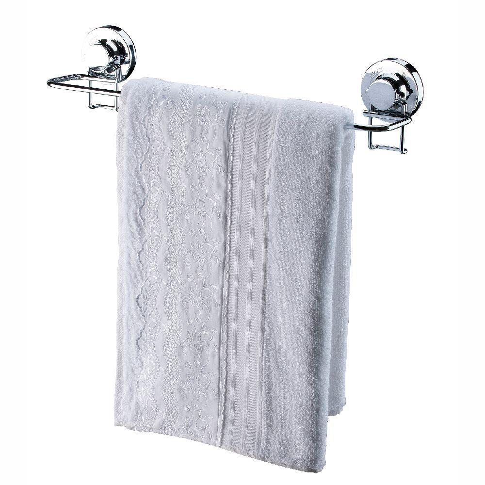 Kit 3 Peças Para Banheiro Fixação Por Ventosa Cromado