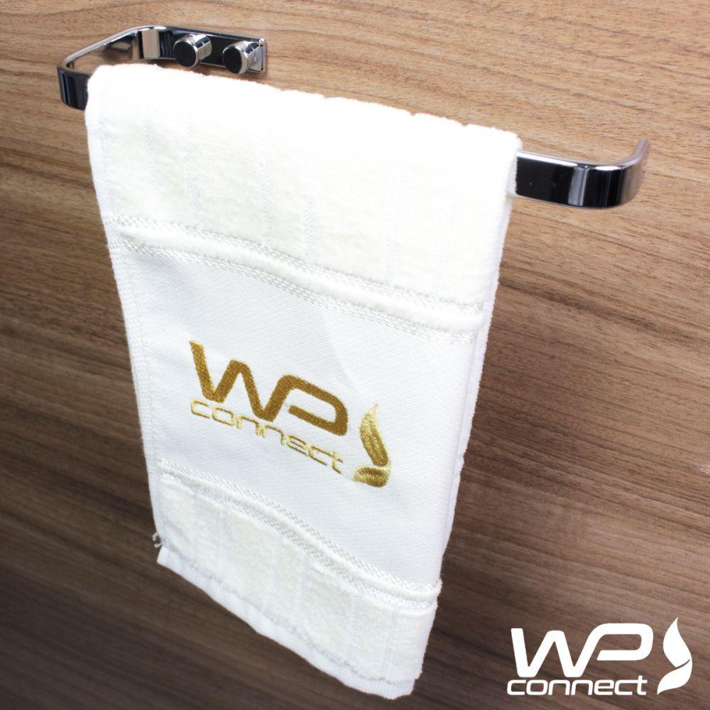 Kit Acessórios Banheiro 5 Peças Suportes de Parede - Cromado