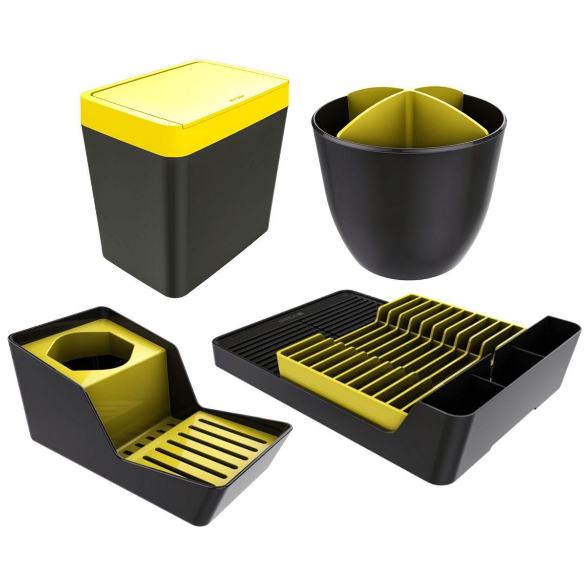 Kit Acessórios de Cozinha 4 Peças Organizadores Pia - Cores