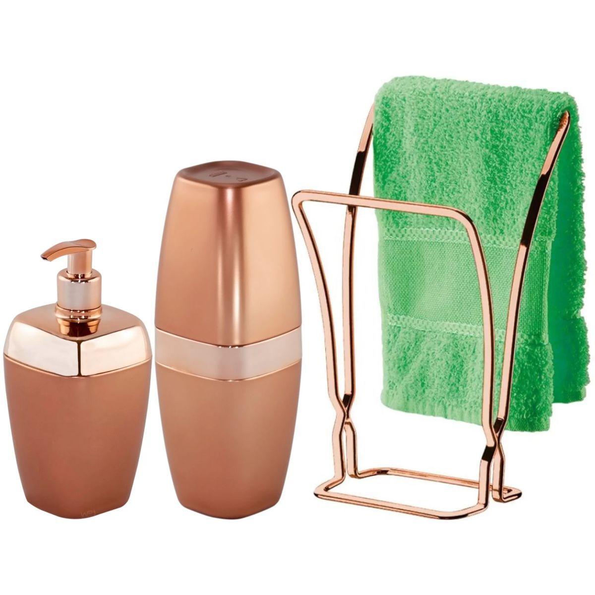 Kit Acessórios Para Banheiro 3 Peças Luxo Wp Connect