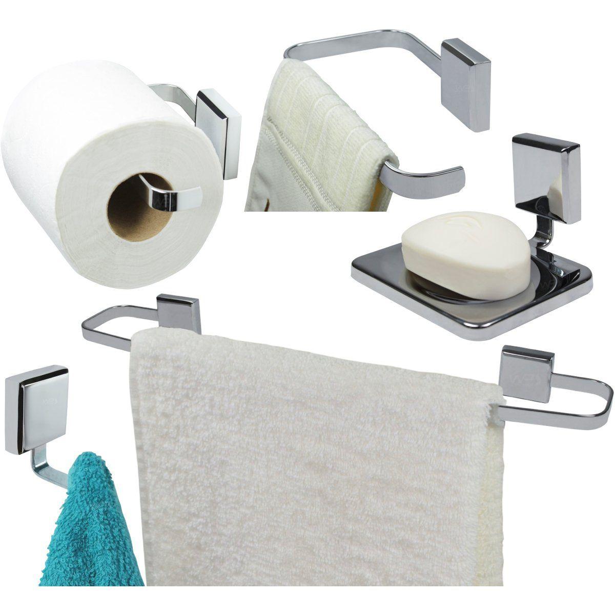 Kit Acessórios Para Banheiro 5 Peças Misú - Cromado