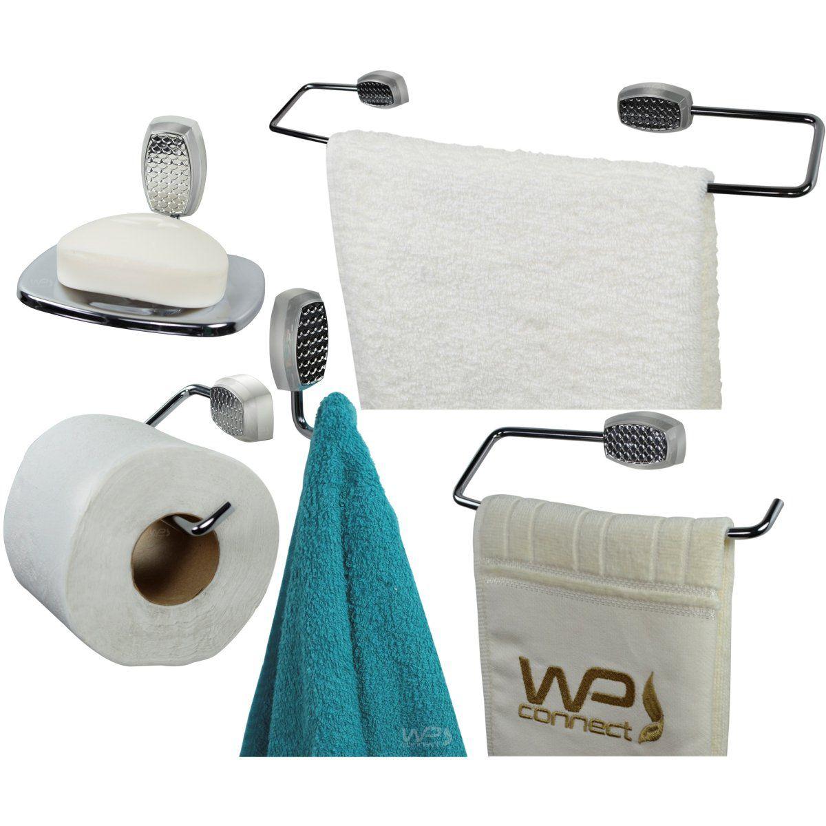 Kit Acessórios Para Banheiro 5 Peças Tikai - Cromado