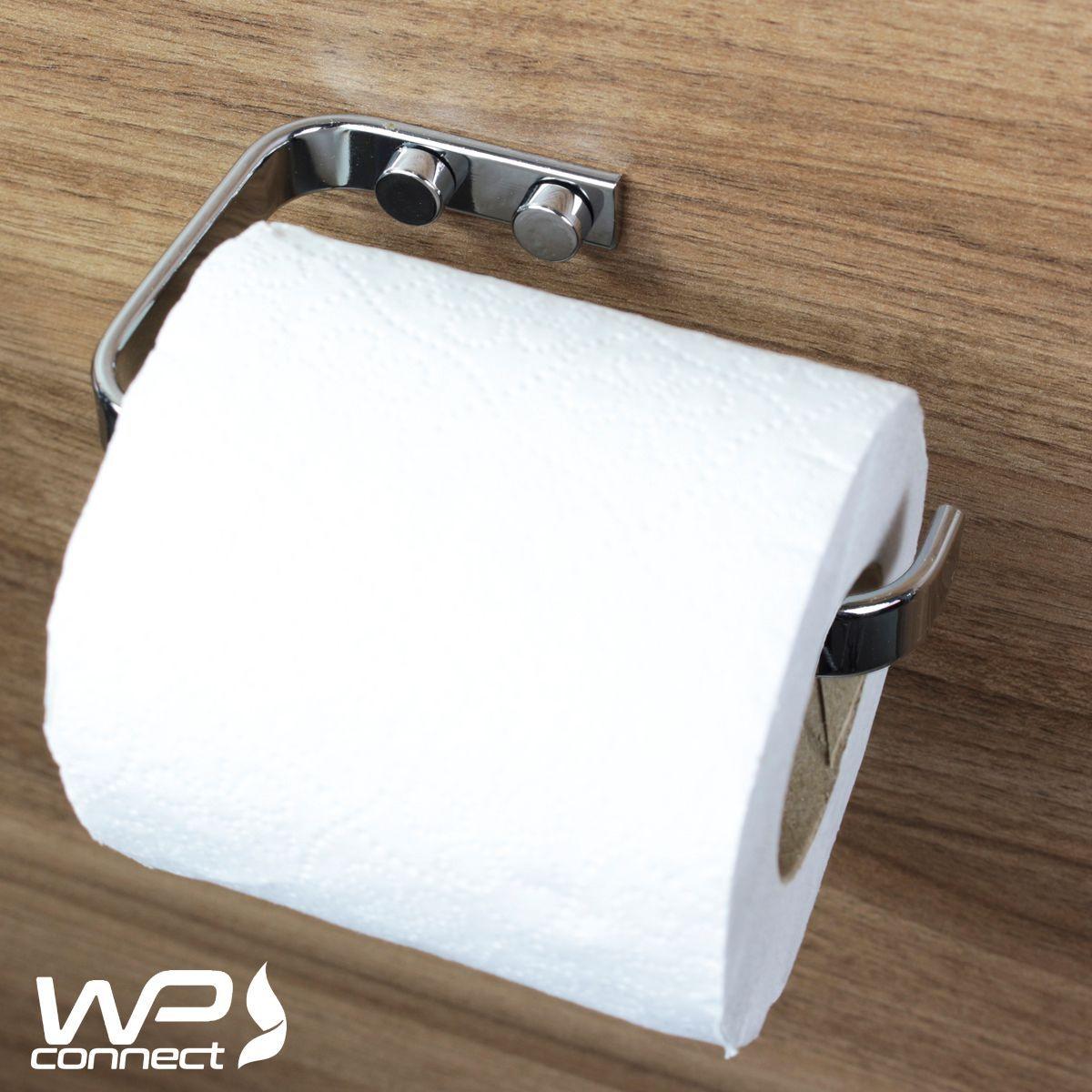 Kit Banheiro 5 Peças Suportes Organizadores Fixação Parafuso - Cromado