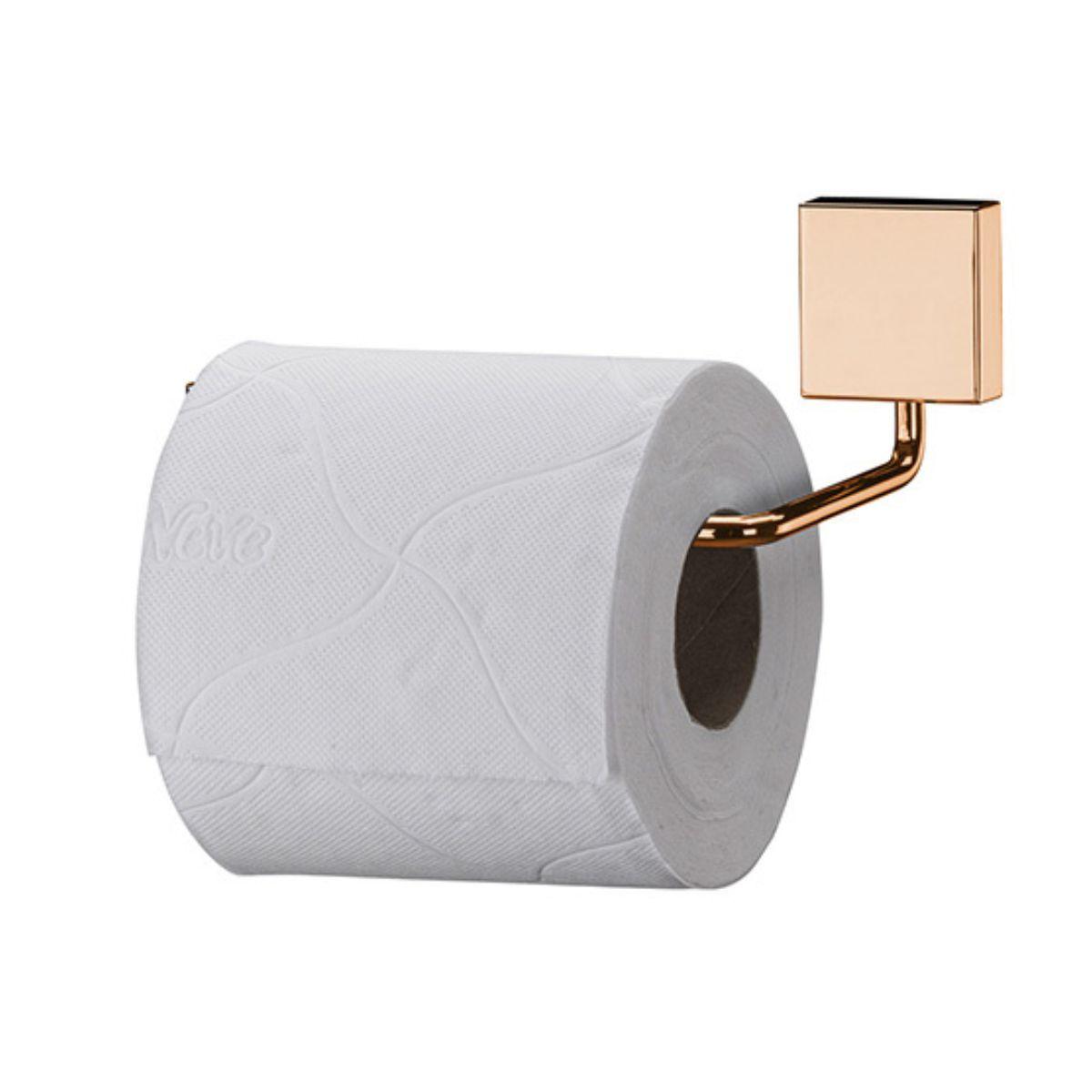 Kit Banheiro Cobre Rosé Gold 5 Peças Fixação Parafuso Aço