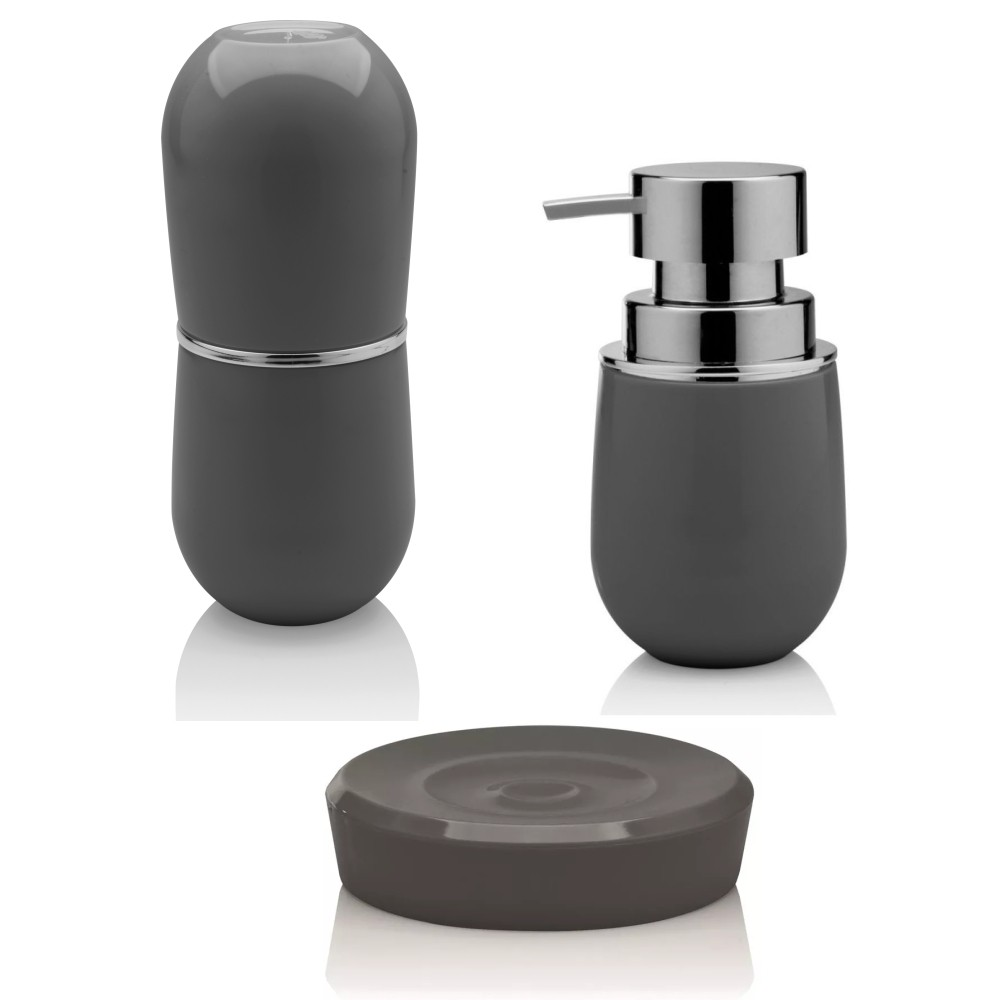 Kit Banheiro Lavabo Essencial Com 3 peças Sobre Pia