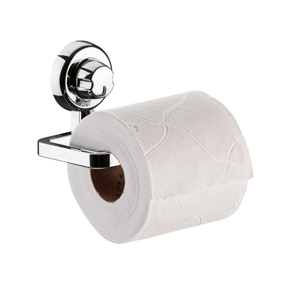 Kit Banheiro Papeleira, Saboneteira e Gancho Fixação Por Ventosa ABS Cromado
