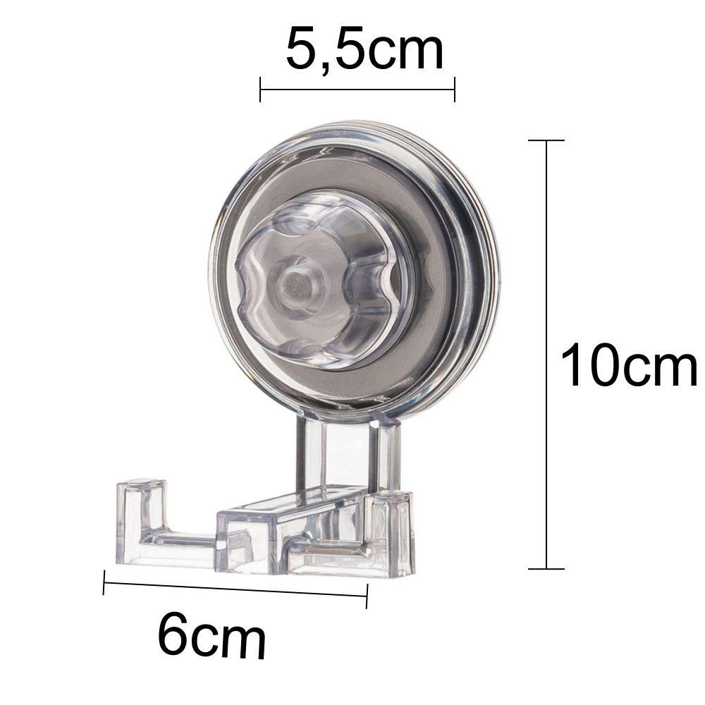 Conjunto Para Banheiro Fixação Por Ventosa 3 peças Incolor