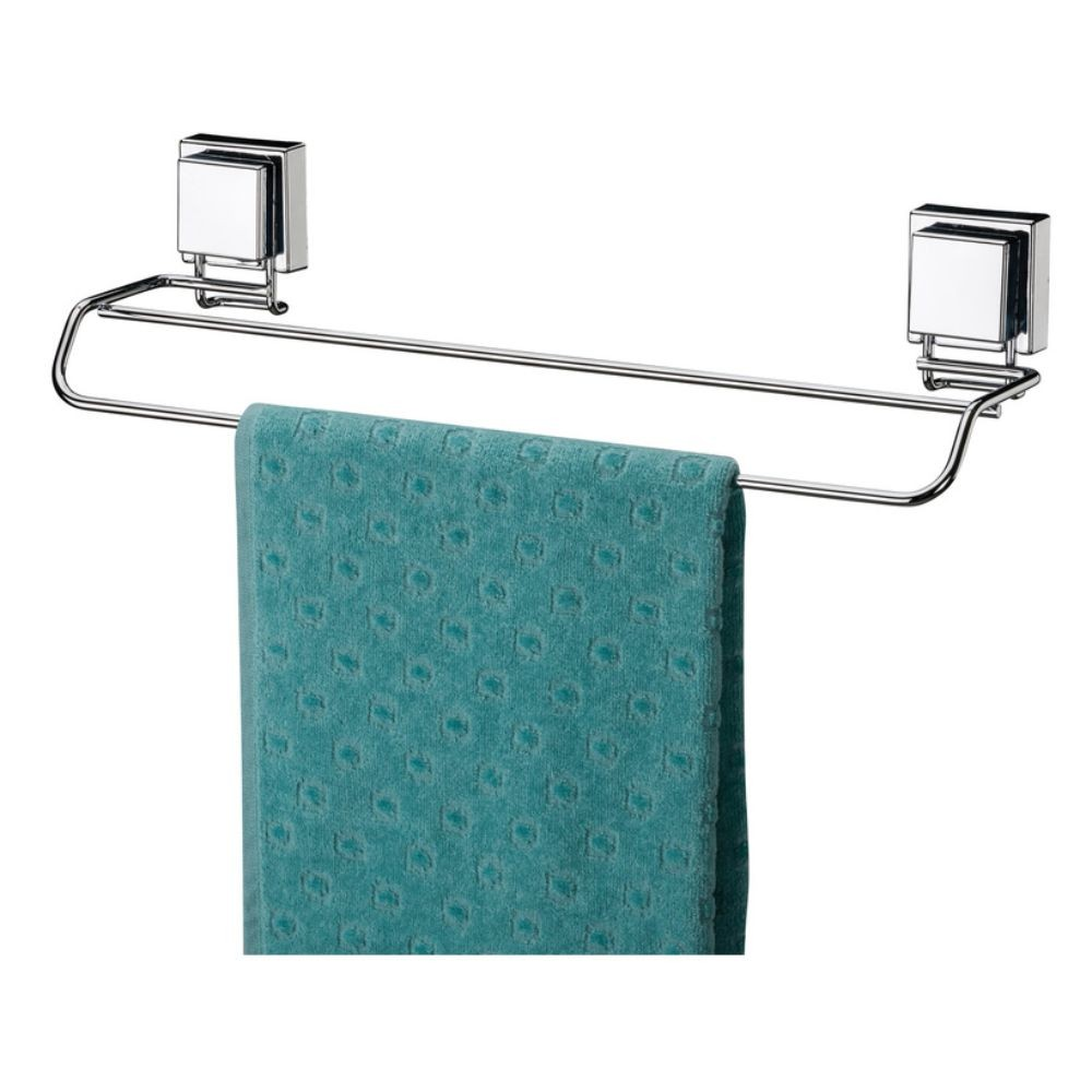 Kit Papeleira, Toalheiro, Toalheiro Duplo e Porta Shampoo - Ventosa Inox