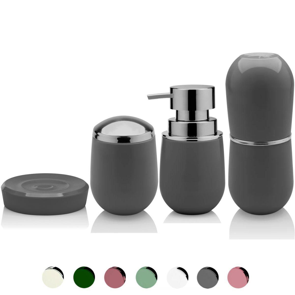 Kit Completo Conjunto Sobre Pia Banheiro 4 Peças