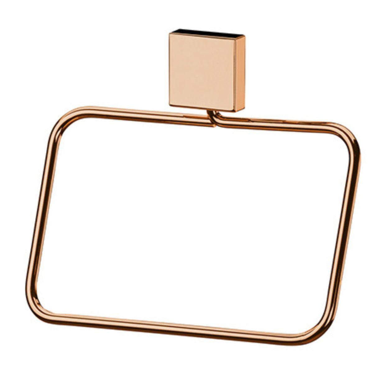 Kit Banheiro 6 peças Cobre Rosé Gold Fixação Parafuso
