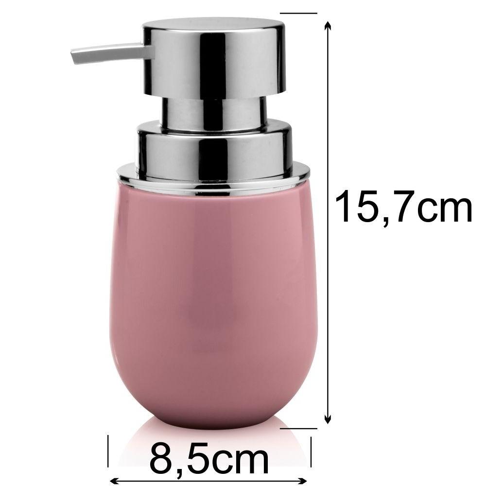 Kit Conjunto Banheiro Lavabo Organizado 4 Peças - Rosa
