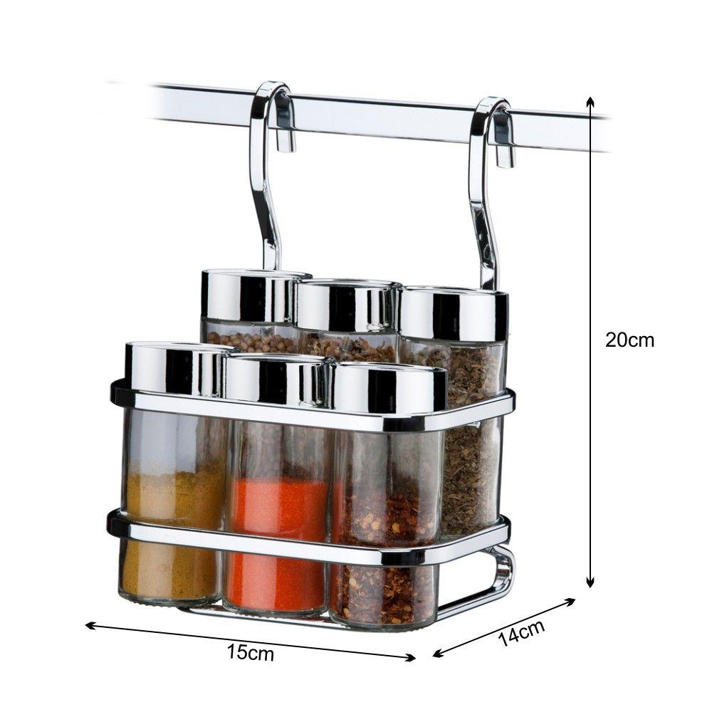 Kit Cozinha Porta Temperos Escorredor de Louças Barra 45cm