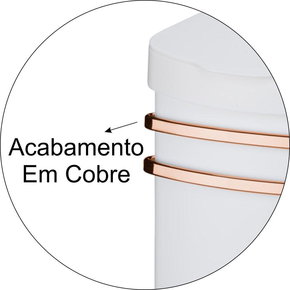Kit De Cozinha Suporte Com Lixeira + Porta Temperos P/ Barra