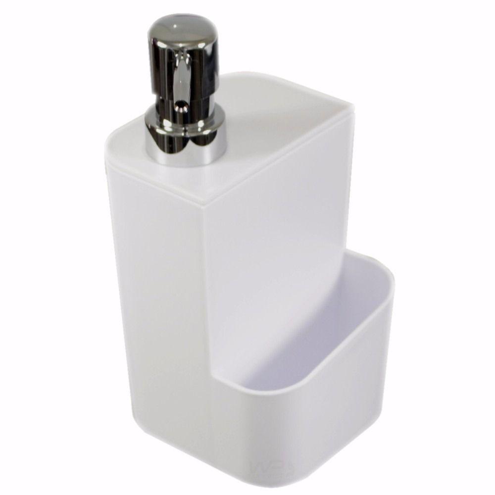Kit Dispenser Detergente e Porta Sacolas Cozinha e Lavanderia