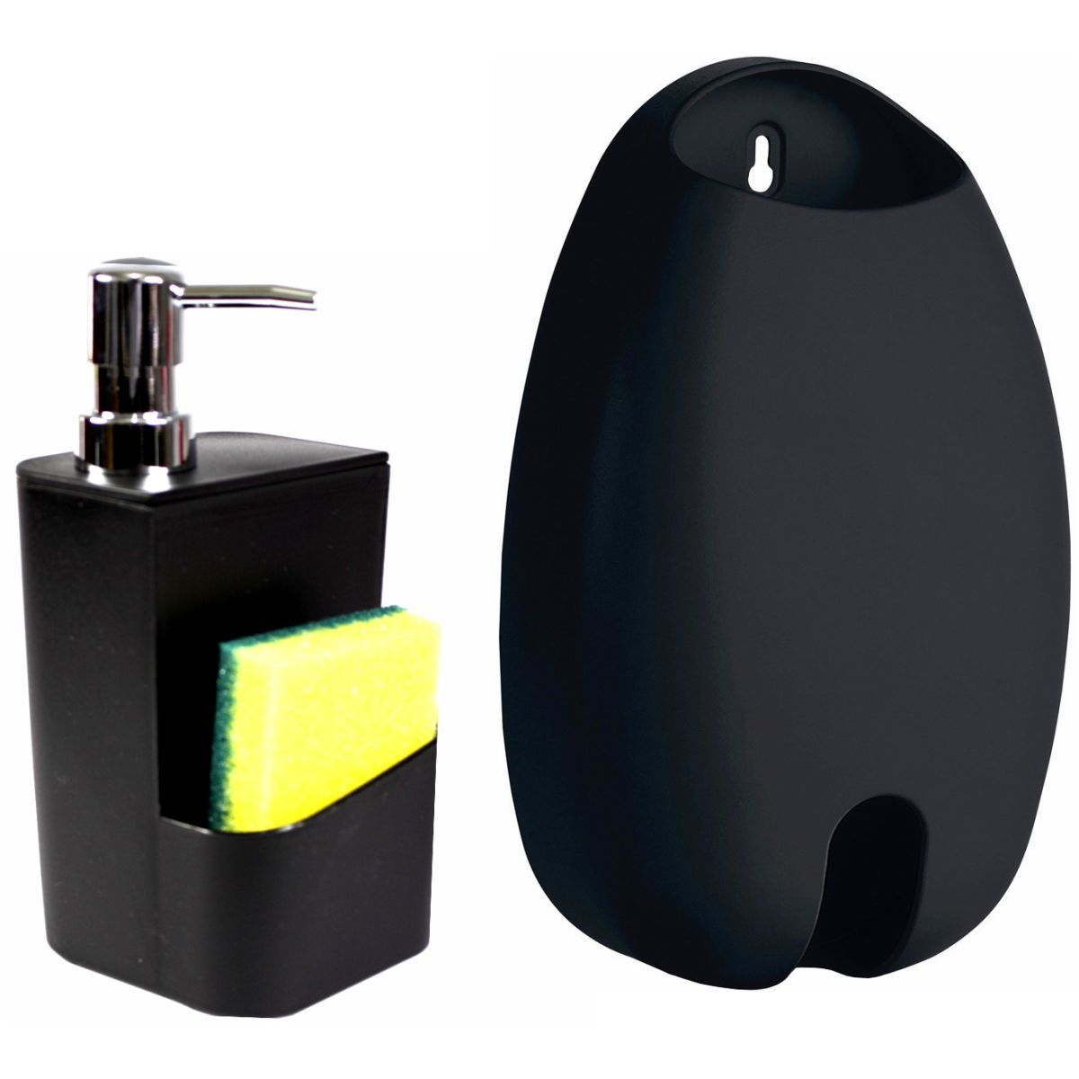 Kit Dispenser Detergente e Suporte Sacolinha