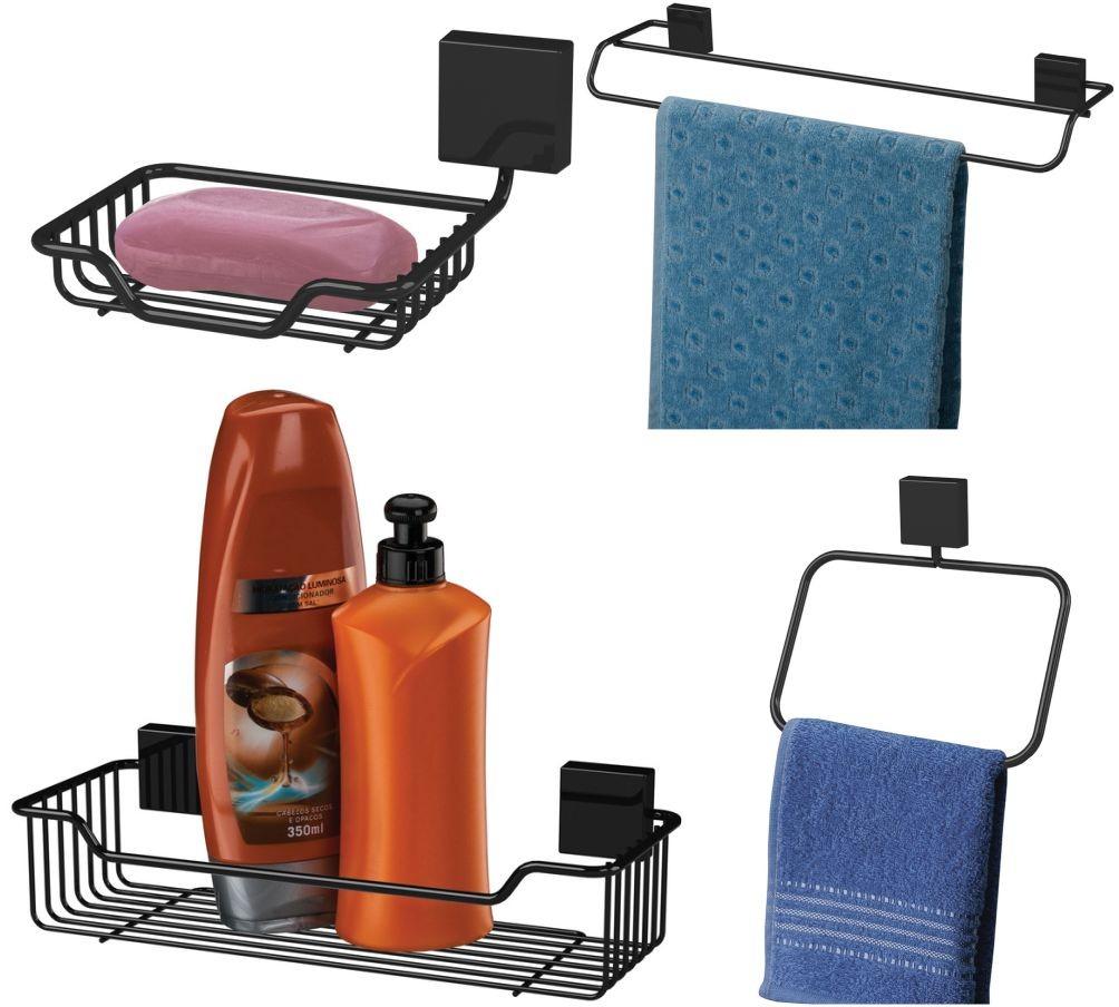 Kit Future 4 Peças Para Banheiro Fixação Parafuso