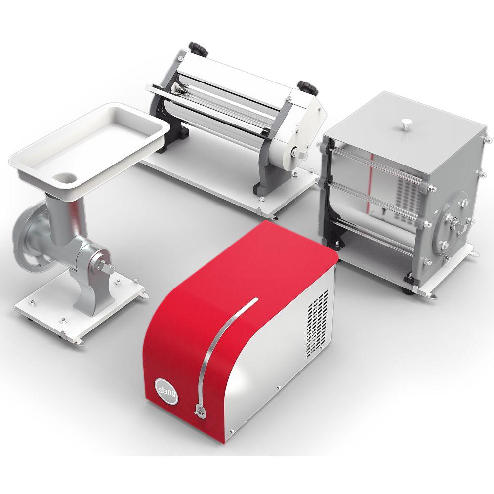Kit Cilindro Com 4 Funções: laminar, extrusar, moer e misturar - Vermelho