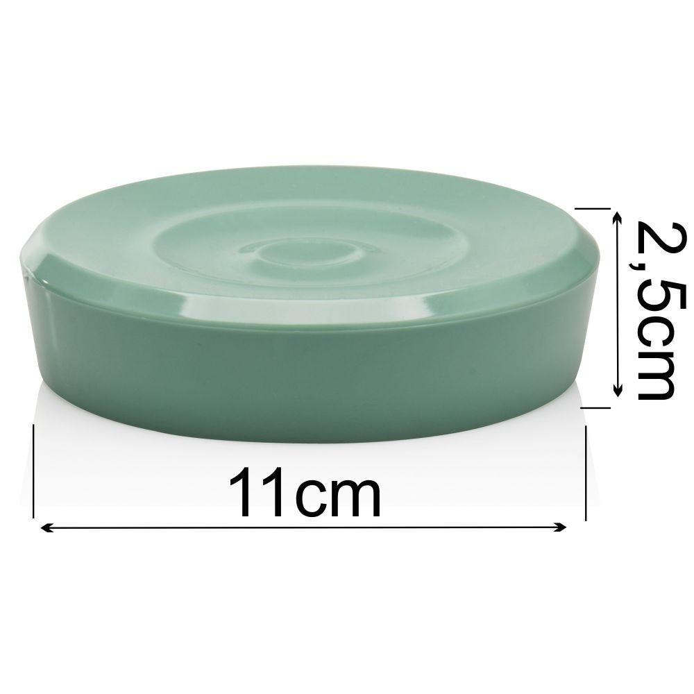 Kit Organização Para Banheiro Higiene Com 3 Peças - Verde