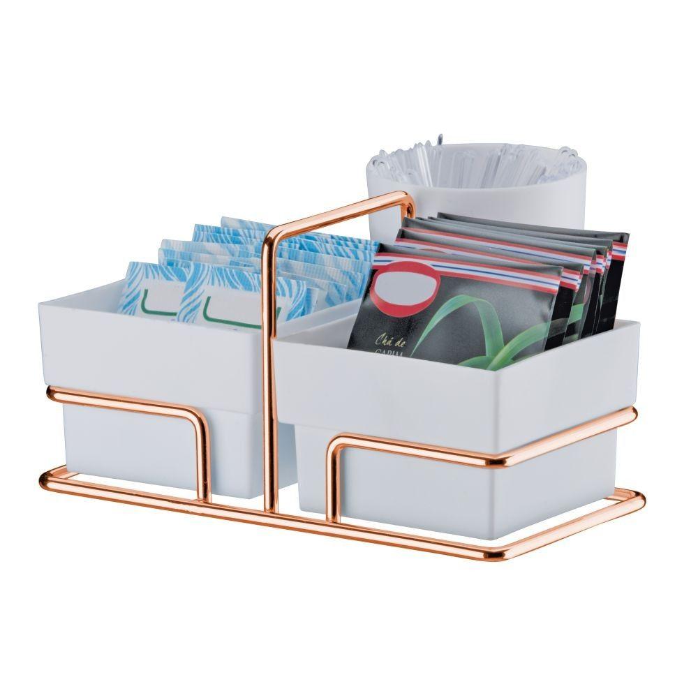 Kit Organizador Lixeira Basculante e Suporte Sachês