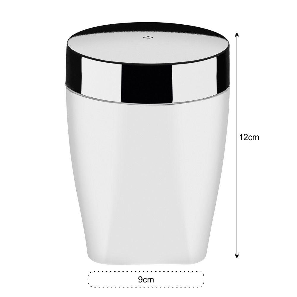 Kit Organizadores Para Banheiro Com 4 Peças - Branco