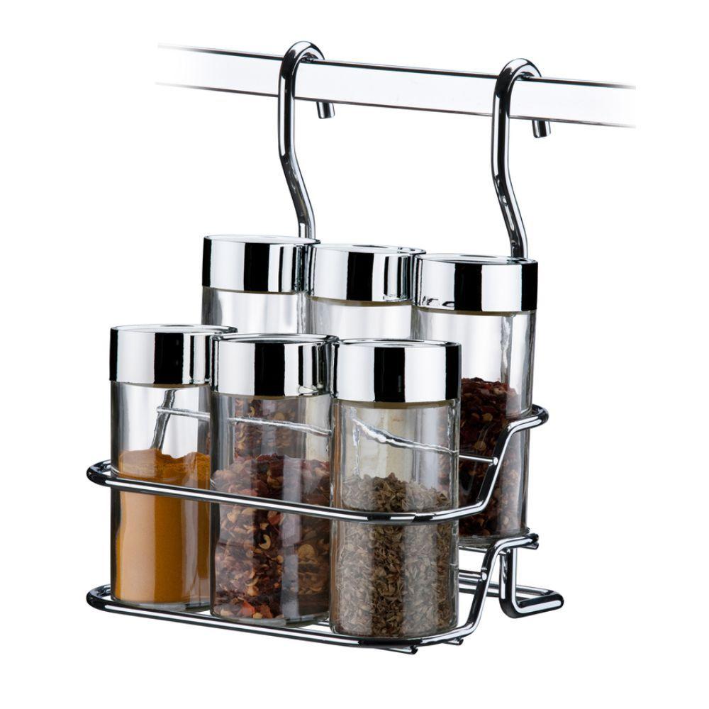 Kit Para Barra de Cozinha Suspensa Com Porta Temperos