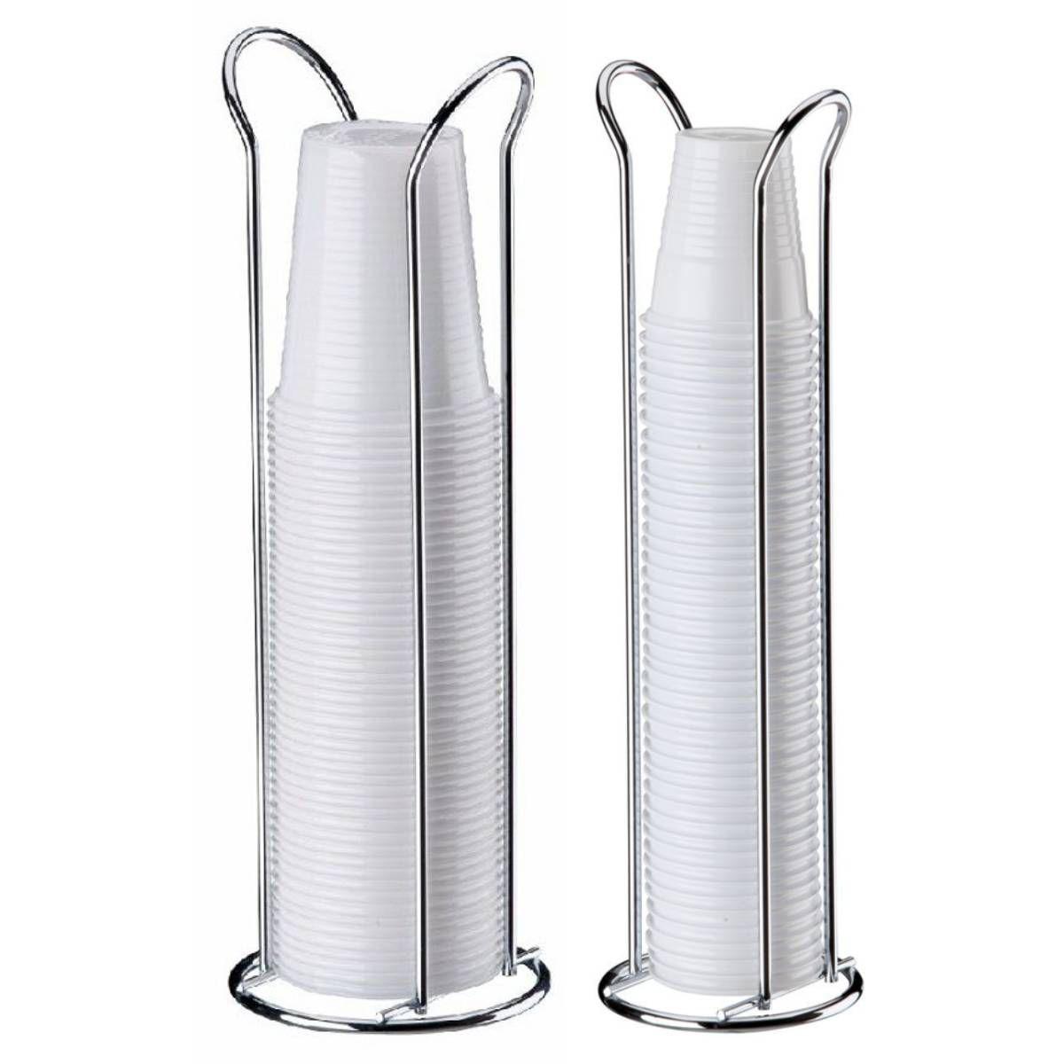 kit suporte de copos descartável de 200ml + suporte de 80ml