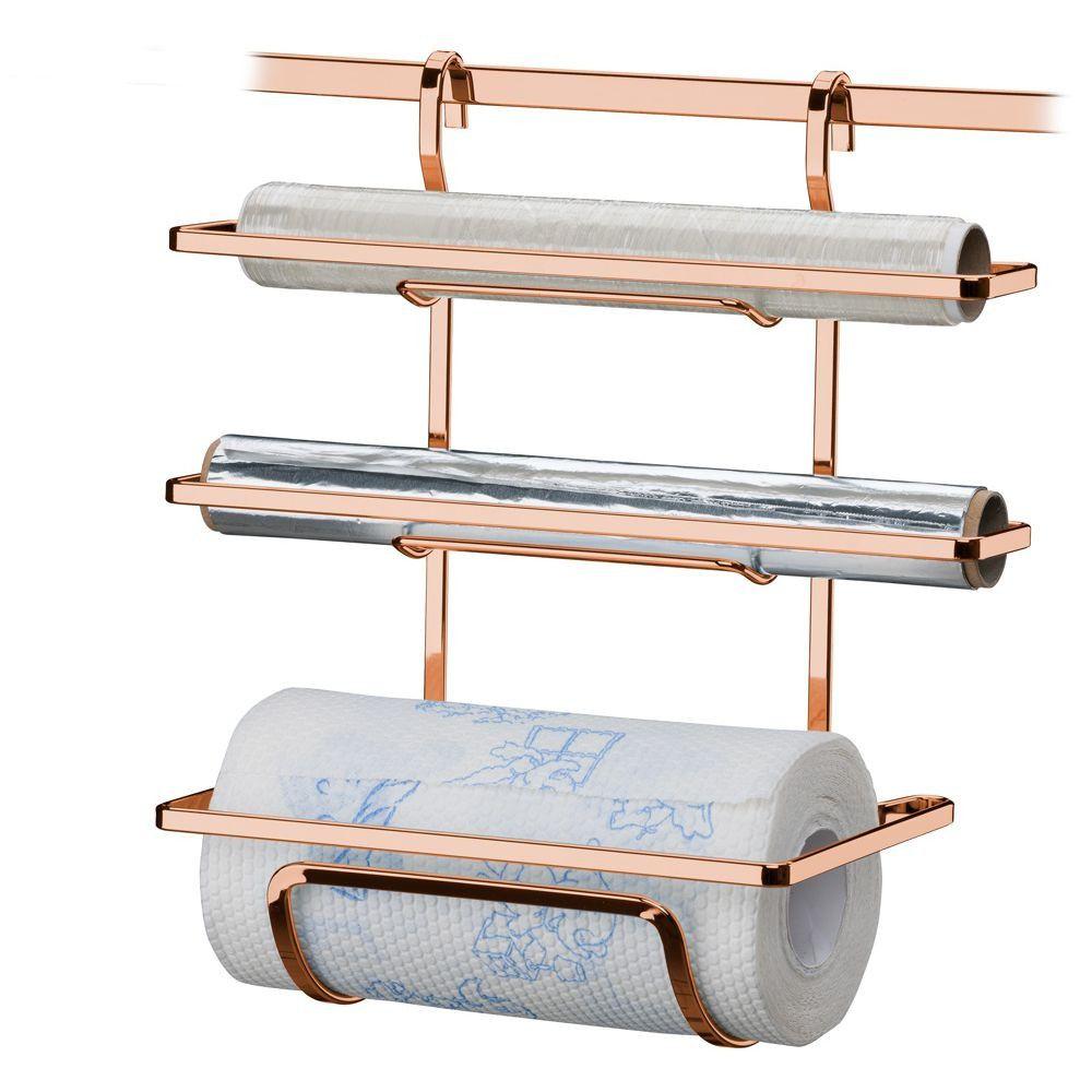 kit suporte para rolos + barra 45cm - Cobre
