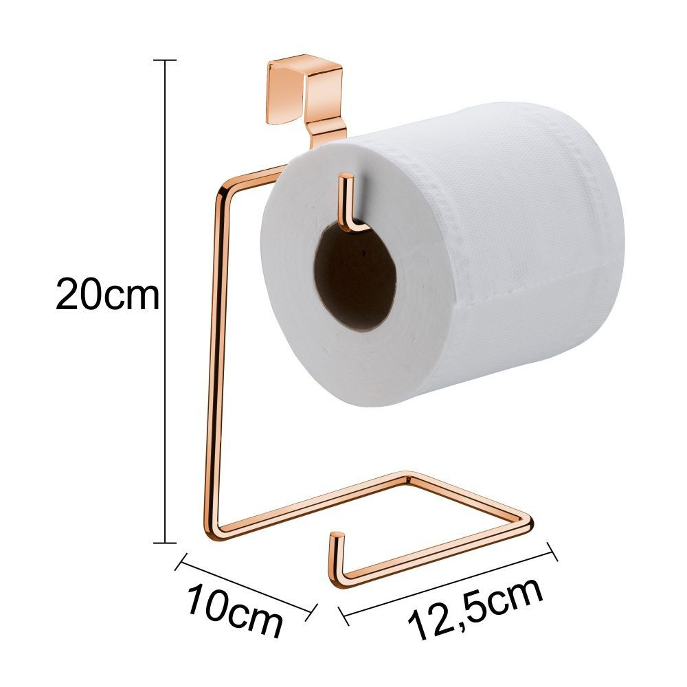 Kit suporte porta papel 1 Rose gold + 7 cromado