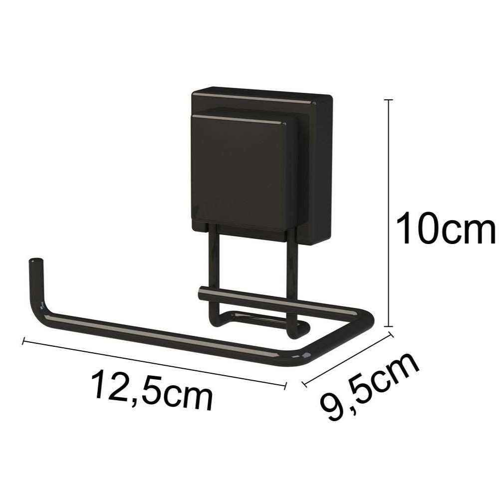 Kit Toalheiro 45 cm + Toalheiro Argola + Porta Papel Higiênico