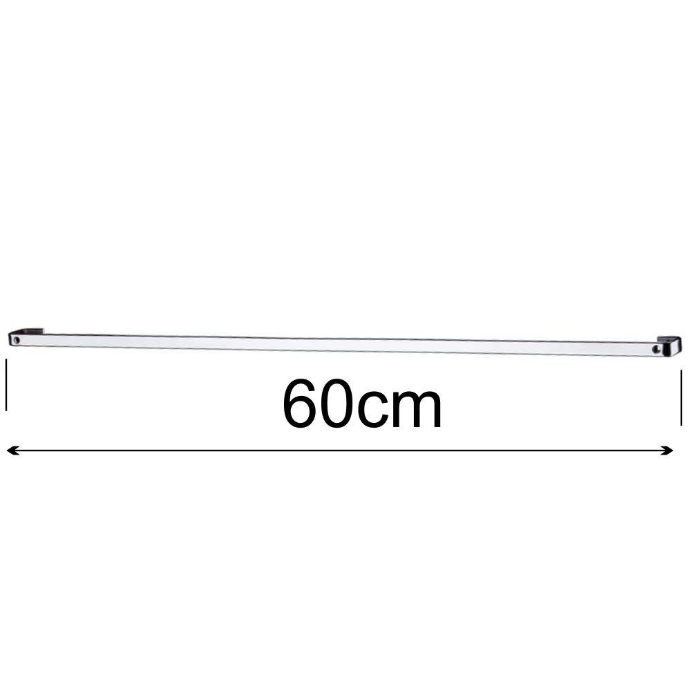Lixeira 2,5 L com Suporte + Saleiro Branco + Barra Aço 60 cm