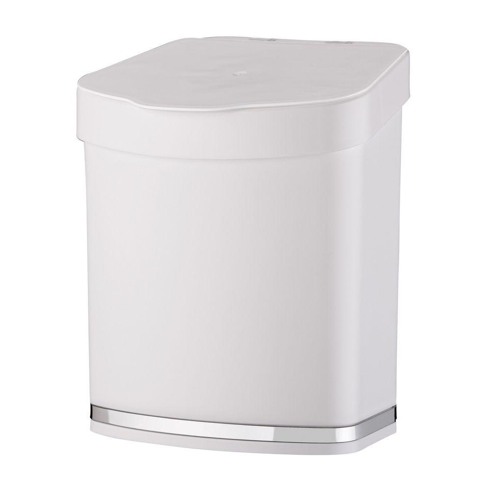 Lixeira 2,5 litros Em Plástico PS Eleganza - Branca