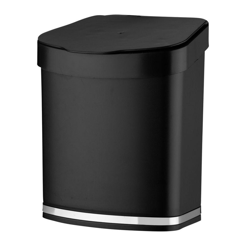 Lixeira 2,5 litros Em Plástico PS Eleganza - Preta