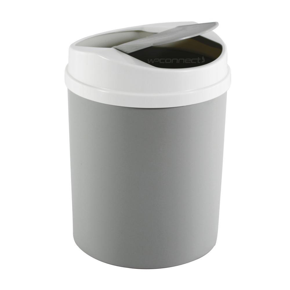 Lixeira 5 Litros Basculante Tampa Vai e Vem Cozinha Banheiro