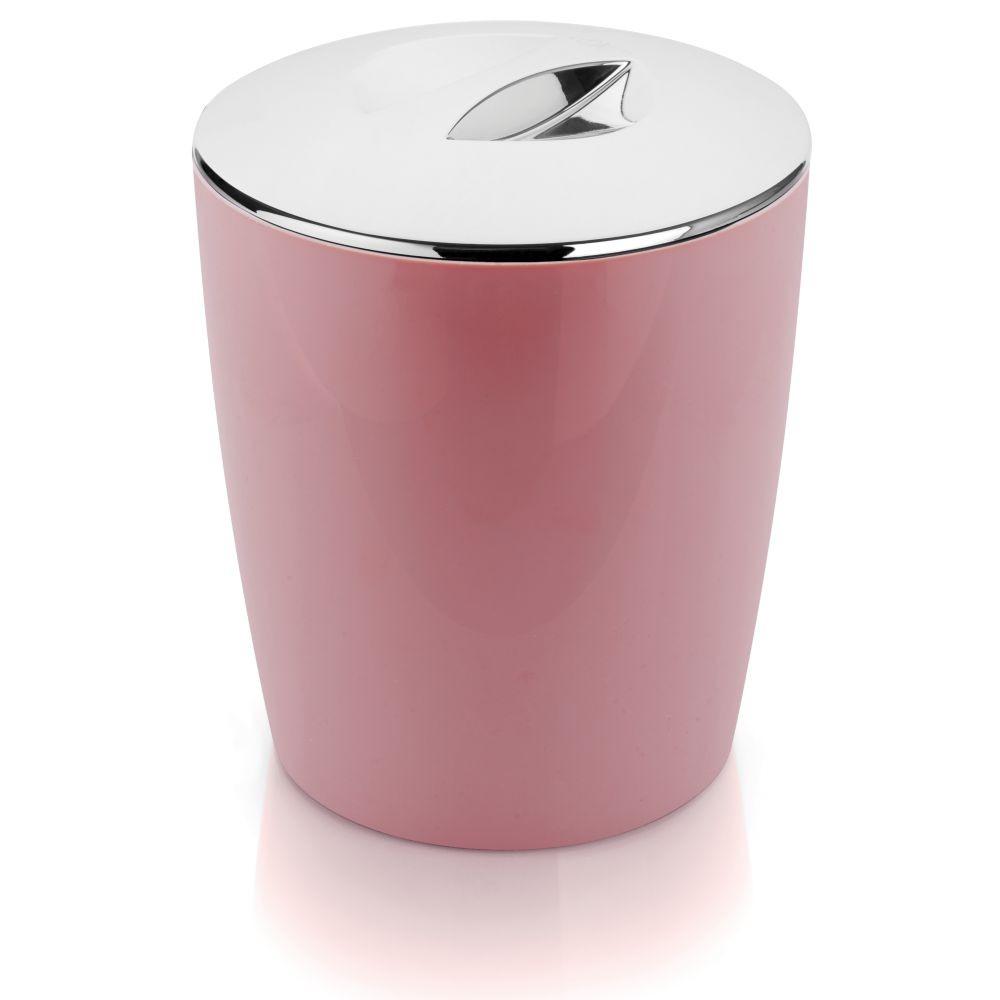 Lixeira Cromo Vitra Cozinha Banheiro 5L Rosa