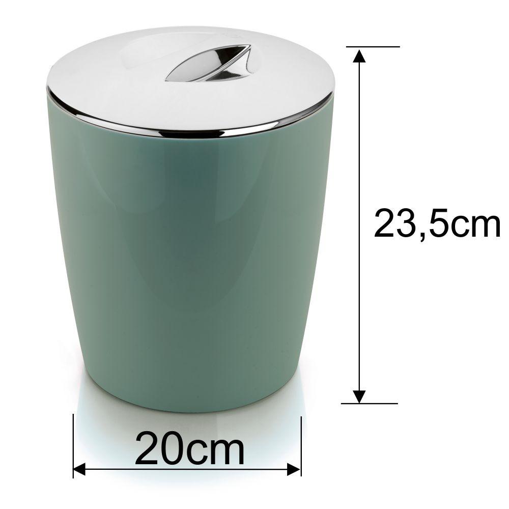 Lixeira Cromo Vitra Cozinha Banheiro 5L Verde