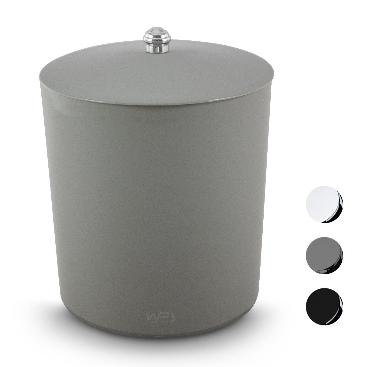Lixeira Multiuso 5 Litros Puxador Cromado Banheiro
